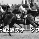第40回新潟2歳ステークス(GⅢ)最終予想