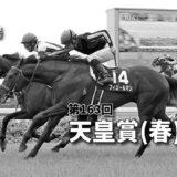 第163回天皇賞(春)(GⅠ)攻略データ(3)